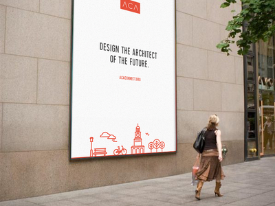 ACA Advertising Mockup minimal sign in the wild iconography branding architecture billboard wall advertising ad