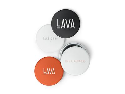 Lava Identity Phase One Polish brand design design mockups av tech startup concept identity branding mockup button