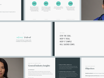 Odyssey Brand Guidelines data insights stats delivery culture keynote core values presentation values standards guidelines branding