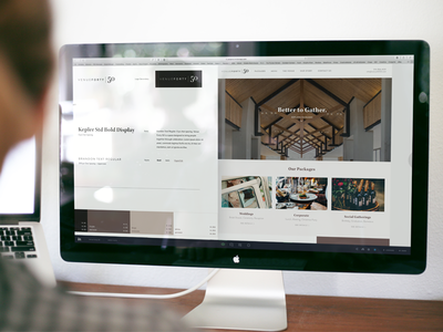 Venue 4050 Web Design mac branding web design polished luxury wedding venue ux web
