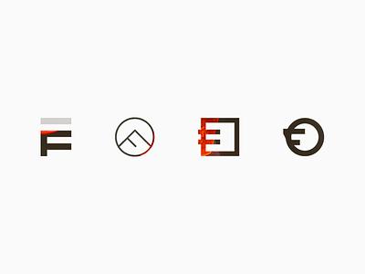 Brand Mark Exploration work in progress f transparent icon weld forge fire branding brand mark logo