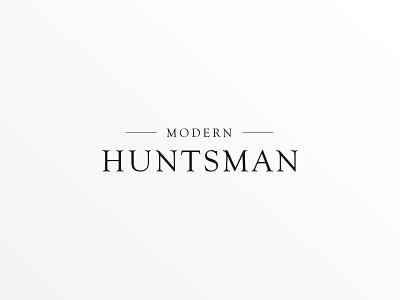 Modern Huntsman Logo gear website branding magazine logotype editorial startup minimalist huntsman hunting serif logo