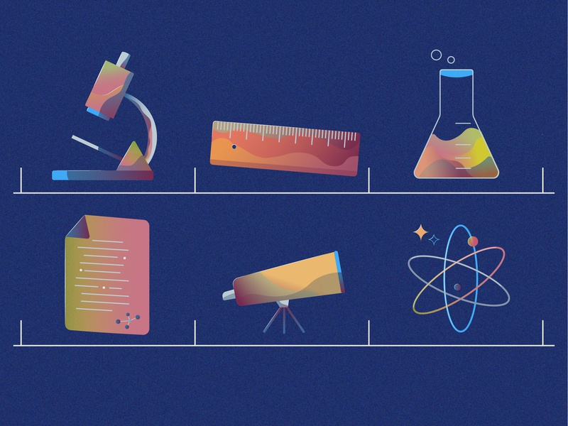 Science Illustration scientific illustration science ui web icon set icon vector uiillustration illustration