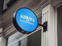 Alonzo's Barbershop Sign