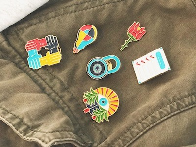Pilot Pins checklist forest light hands lock rose pin game enamel pins