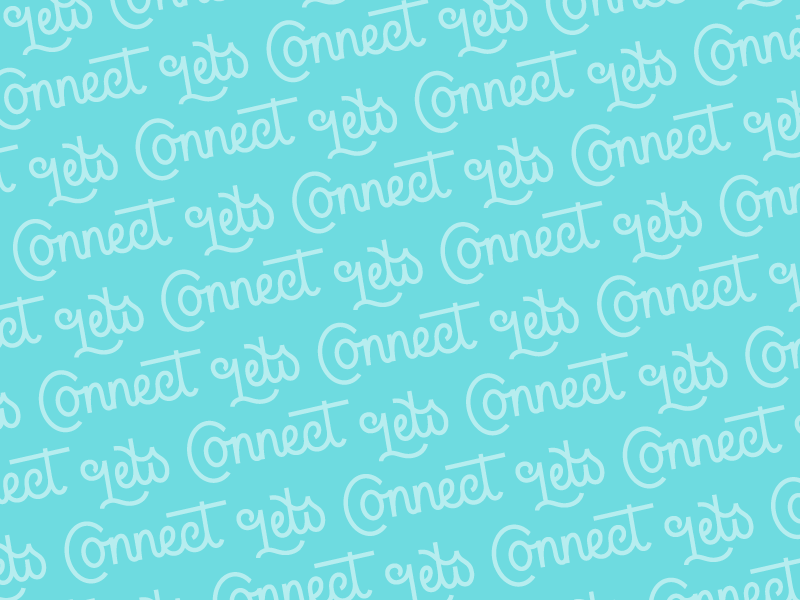 Lets Connect sticker connect type lettering pattern