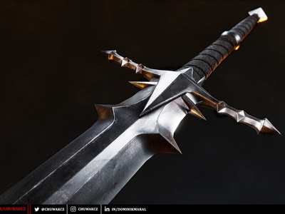 Nazgul Greatsword unreal engine cgart cgi graphic design prop art game ready unreal game prop game asset sword substance painter game art render 3d prop blender3d blender 3dmodeling 3dmodel 3d art 3d