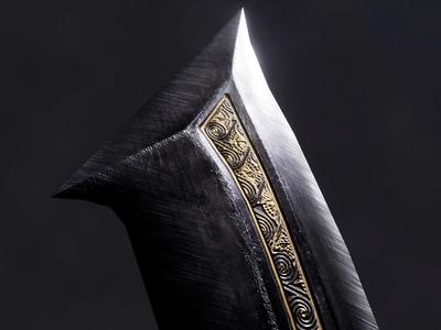 Egyptian Khopesh - Obsidian Version