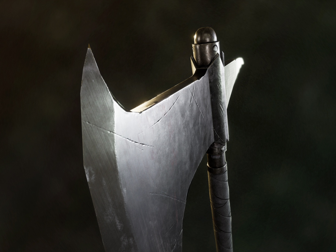 Dragonslayer's Crescent Axe - Dark Souls concept metallic prop design blender pbr 3drender 3d modeling cg art weapon graphic design cgi substance painter game art render 3dmodel 3d art 3d axe fantasy dirty dragon