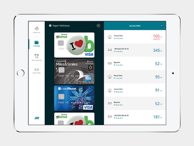 Bkm Express iPad flat ios layout ui money credit pay banking card fintech ipad