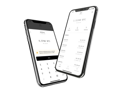 Withdraw warning deposit sell buy money value portfolio investment cryptocurrency wallet business crypto btc bitcoin finance minimal layout ios