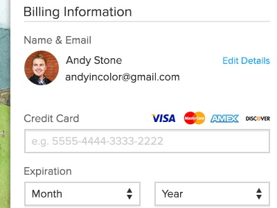 Updated Order Page order billing credit card search