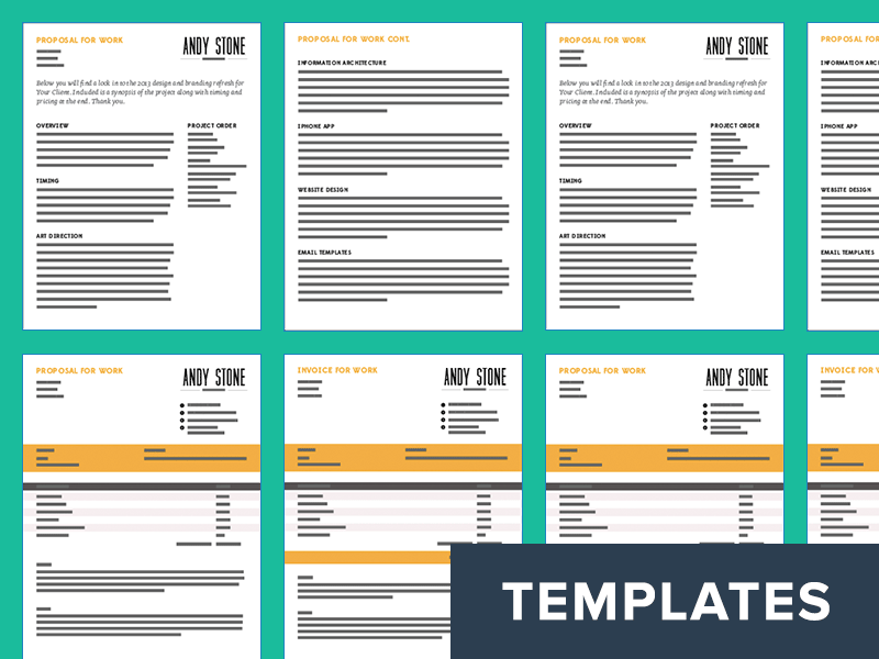 invoice proposal template  Invoice And Proposal Templates by Andy Stone - Dribbble