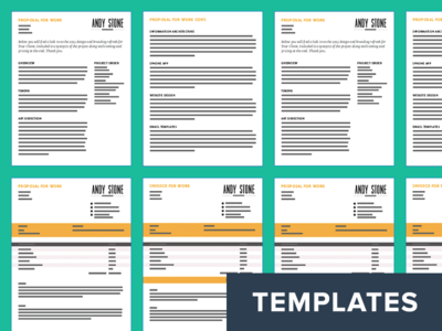 Invoice And Proposal Templates By Andy Stone Dribbble - Invoice proposal template