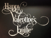 Chalk Art — Happy Valentine's Emilie