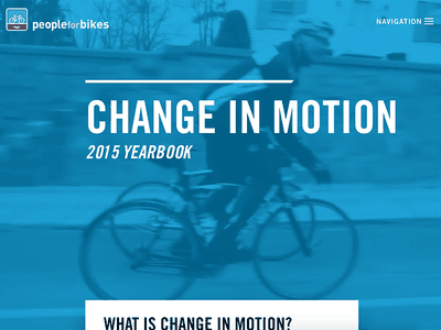 Change In Motion scroll garamond trade gothic year in review yearbook video bikes