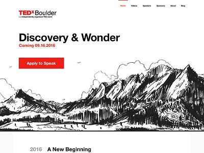 New TEDxBoulder Site Design minimal helvetica sketch boulder tedx ted