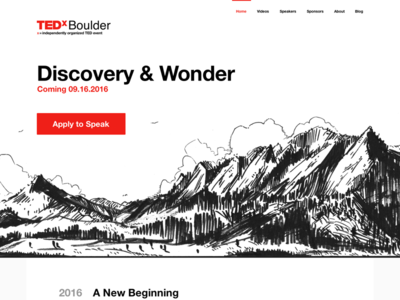 New TEDxBoulder Site Design