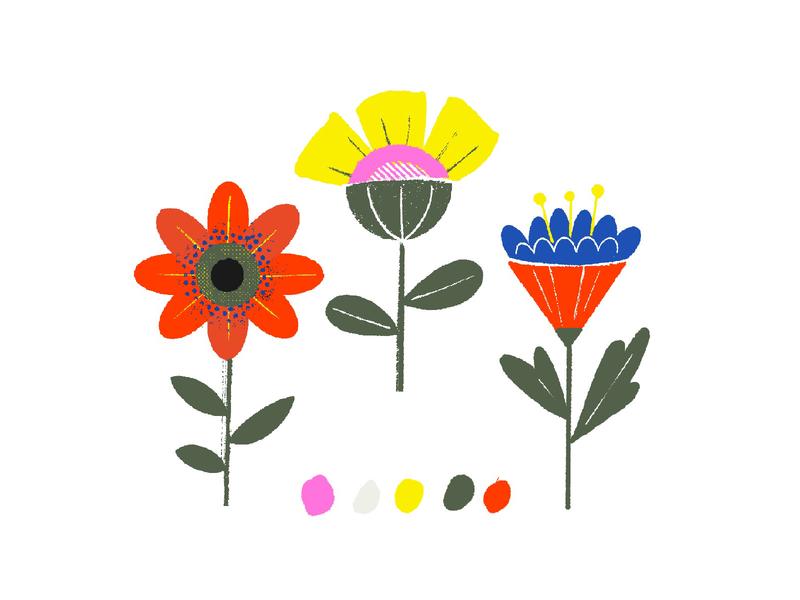 flowers flowers puebla illustration
