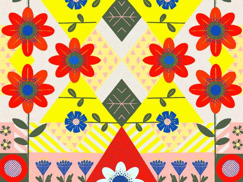 flowers pattern pattern art patterndesign patterns flowers puebla illustration