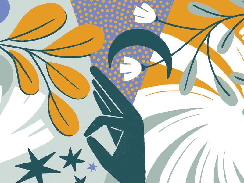 Namaste Mat illustrator procreate yoga mat yoga flowers puebla illustration