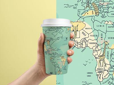 Map Illustration Mock puebla design map world illustration
