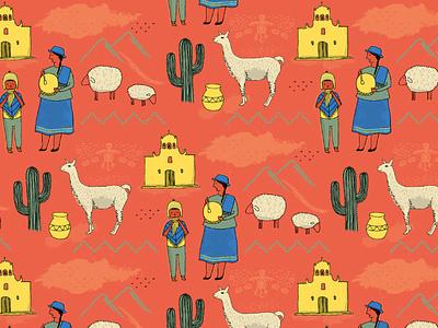 Norte Argentino Pattern puebla coya design illustration