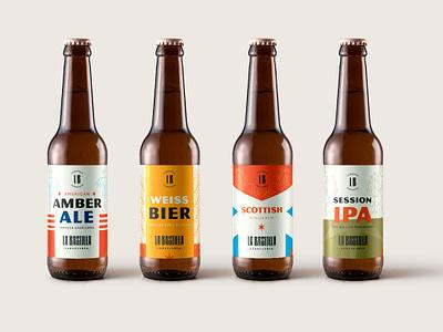 La Bastilla Cerveceria puebla brewery branding brewery logo beer can branding beer branding beer design illustration