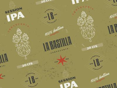 La Bastilla Cerveceria brewery logo beer can bullion logo brewery brewery branding branding beer branding beer illustration design