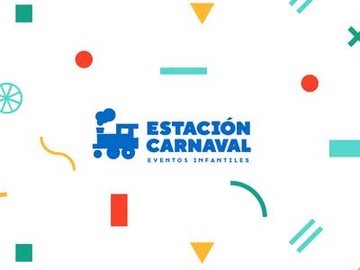 Estación Carnaval graphicdesigns kids train logo puebla illustration design