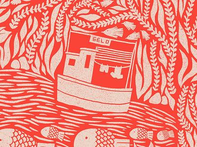 Itacare #1 sea life puebla illustration