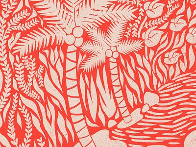 Itacaré #2 jungle palms puebla illustration