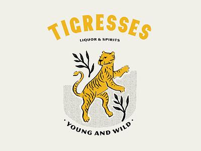 Tigresses #1 logo illustration wild tiger typography logo illustration puebla