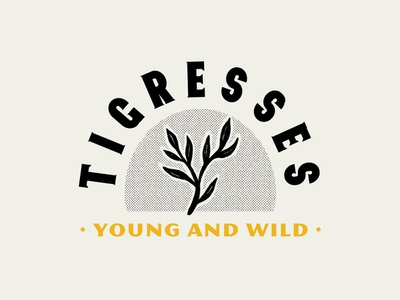 Tigresses #2 liquor tiger logo design puebla