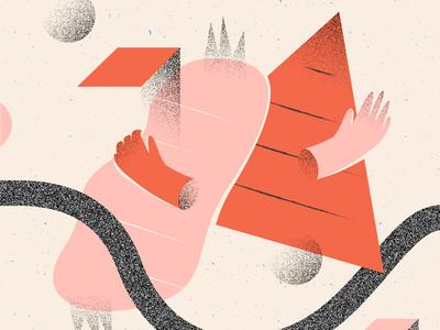 Experimental Illus #2 illustration art flowers puebla illustration