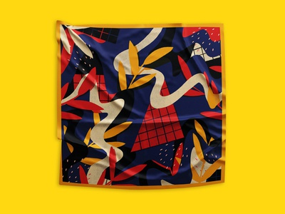 Estampa Pañuelos #1 surfacedesign surface flowers bandit puebla design illustration