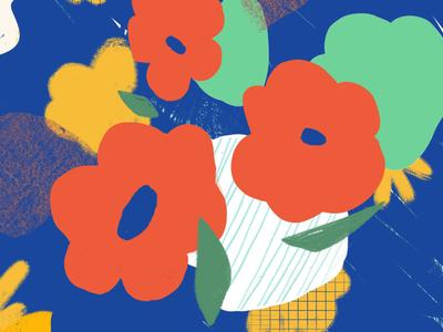 Experimental Illus #3 vibrant colors procreate flower illustration flowers illustration puebla