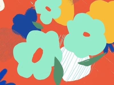 Experimental Illus #4 flower illustration vibrant colors puebla illustration