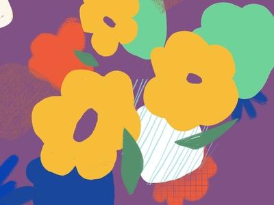Experimental Illus #5 flower illustration procreate puebla illustration