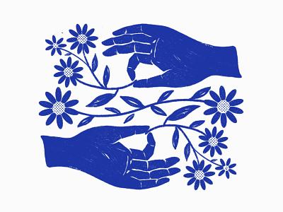 Mudra Flower yoga flowers hand puebla illustration mudra