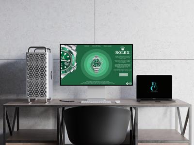 Rolex Submariner Website Page Re-design Concept