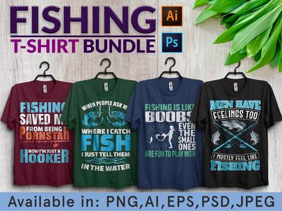 Fishing tshirt design bundle