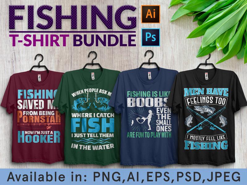 Fishing tshirt design bundle tshirt art fashion gmsuruj001 amazone teespring outdoor fishing fishing fishing rod vector illustration t-shirt design custom tshirt typography tshirt