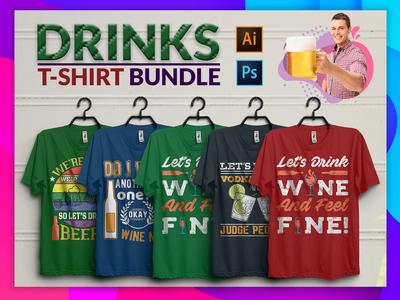 Drink Tshirt design bundle
