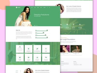 Deepika Padukone website Redesign