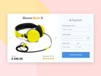 Headphone Checkout UI design