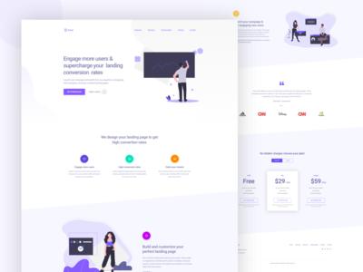 Promotional Ui website landing page design