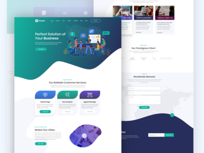 Business Landing page Ui Design