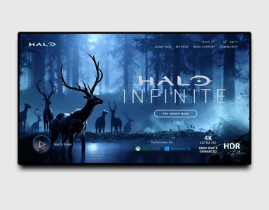 Halo Infinite Landing Page Sample UI