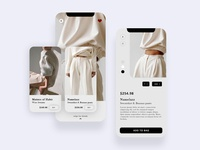 Clothing Sore App - Product Interaction